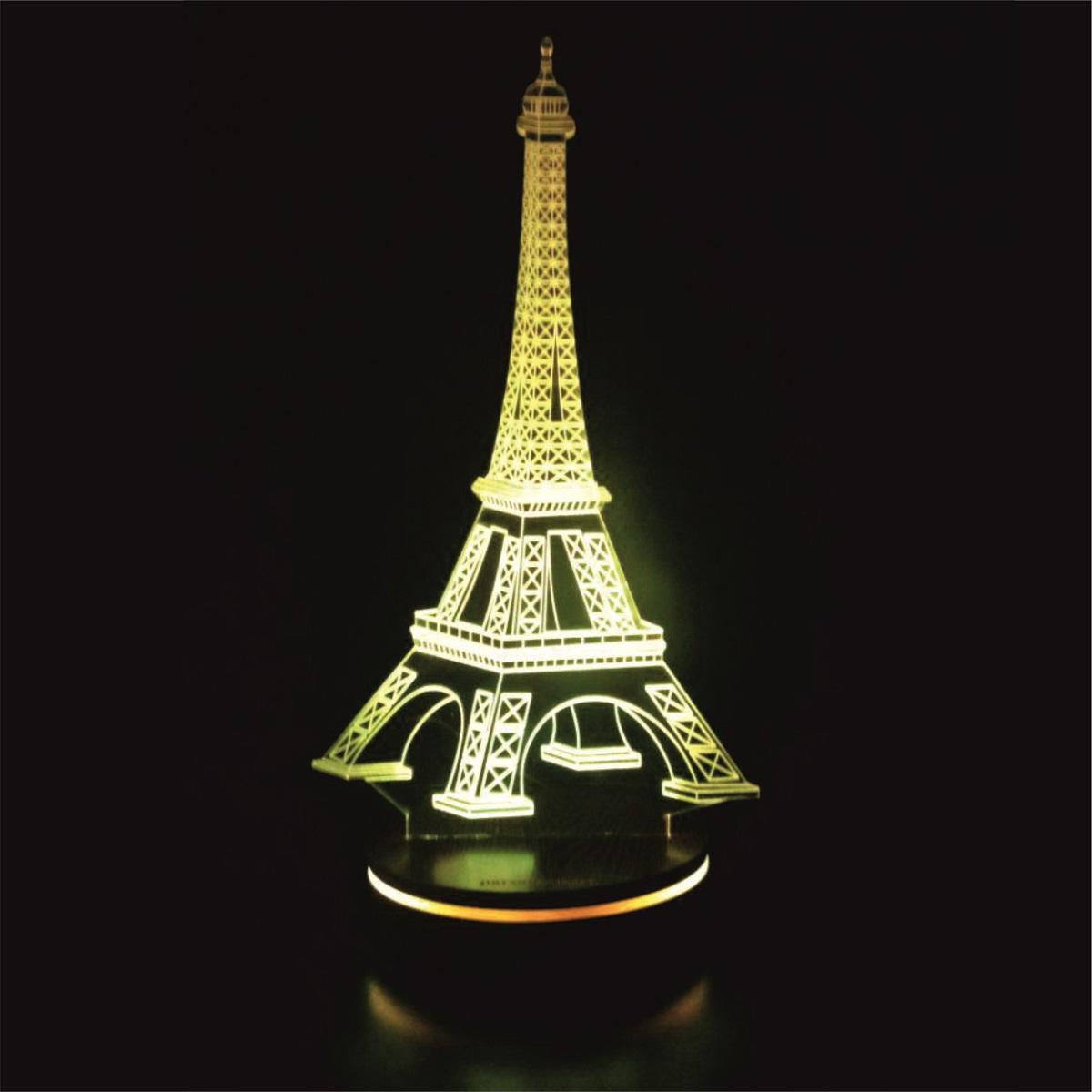چراغ خواب سه بعدی پارسافن لیزر طرح برج ایفل 16 رنگ ریموت دار