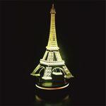 چراغ خواب سه بعدی پارسافن لیزر طرح برج ایفل 16 رنگ ریموت دار thumb