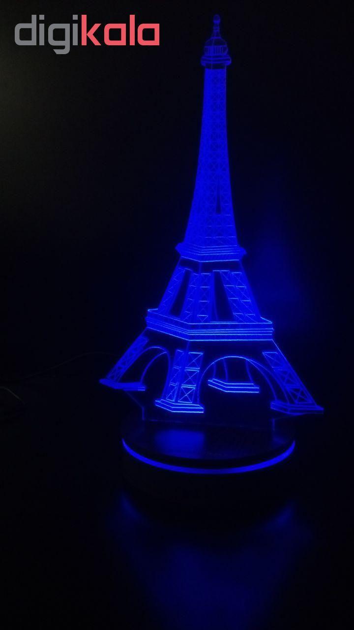 چراغ خواب سه بعدی پارسافن لیزر طرح برج ایفل 16 رنگ ریموت دار main 1 2