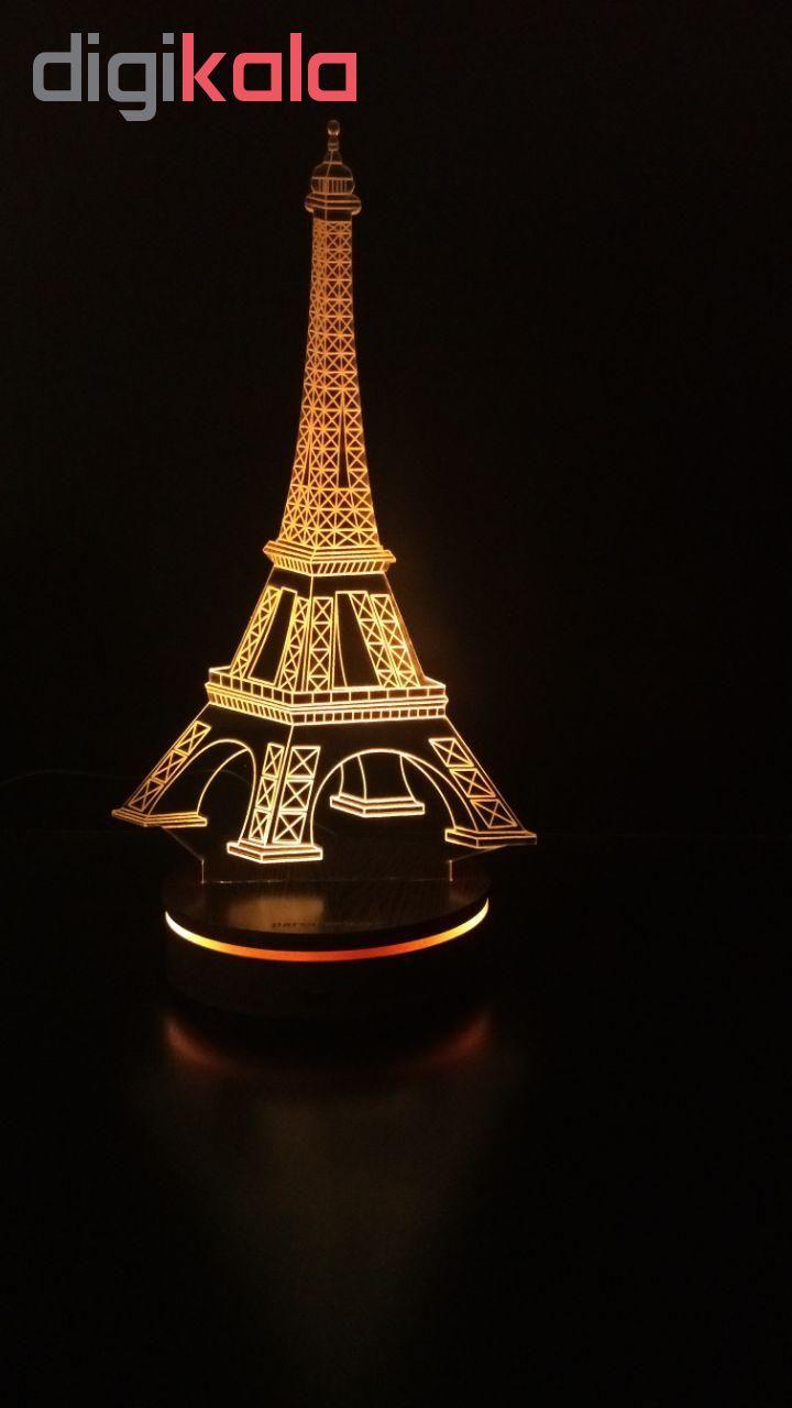 چراغ خواب سه بعدی پارسافن لیزر طرح برج ایفل 16 رنگ ریموت دار main 1 8