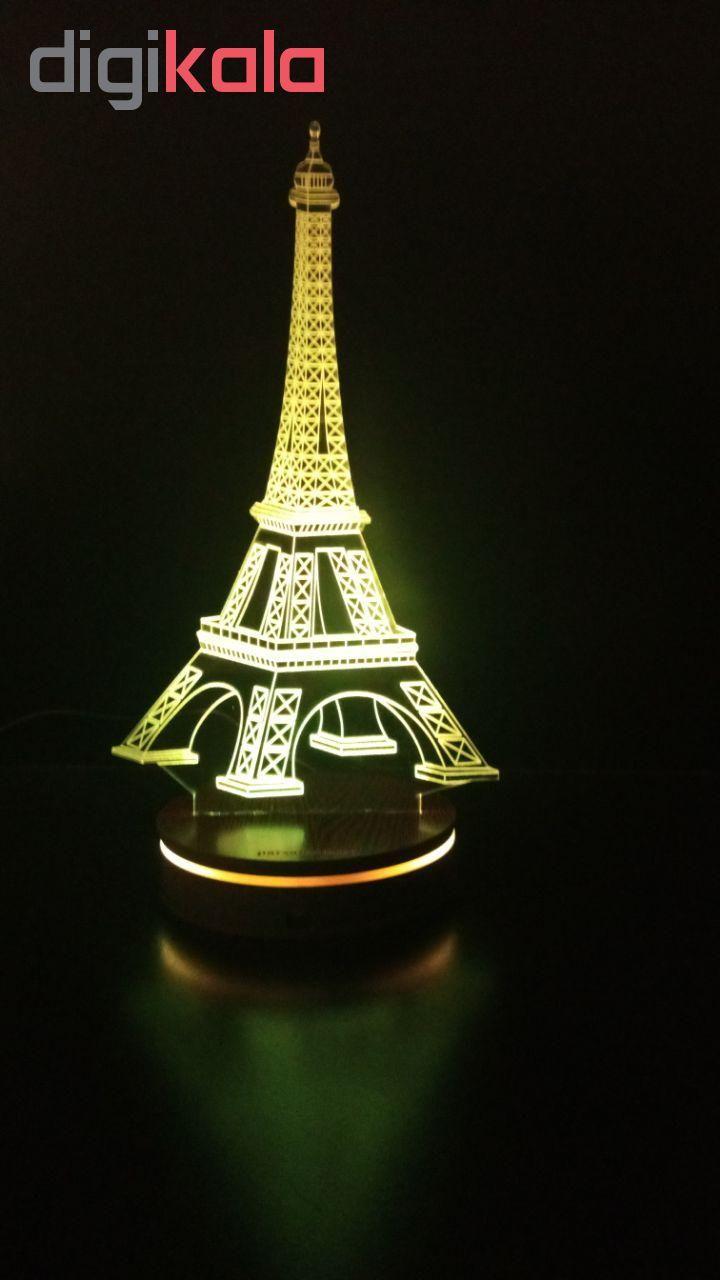 چراغ خواب سه بعدی پارسافن لیزر طرح برج ایفل 16 رنگ ریموت دار main 1 9
