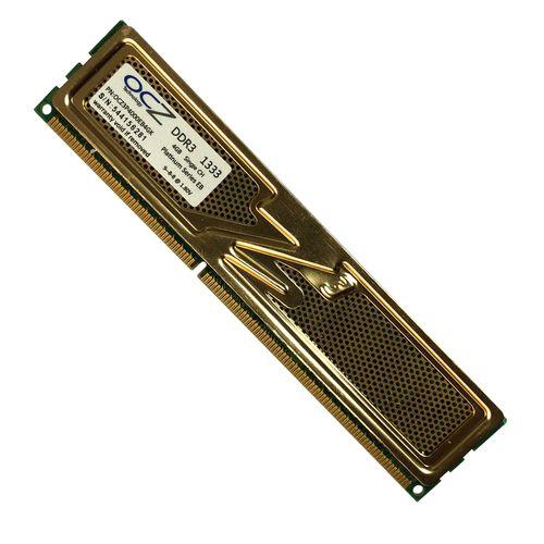 رم دسکتاپ DDR3 تک کاناله ۱۳۳۳ مگاهرتز CL9 او سی زد مدل platinum ظرفیت 4 گیگابایت