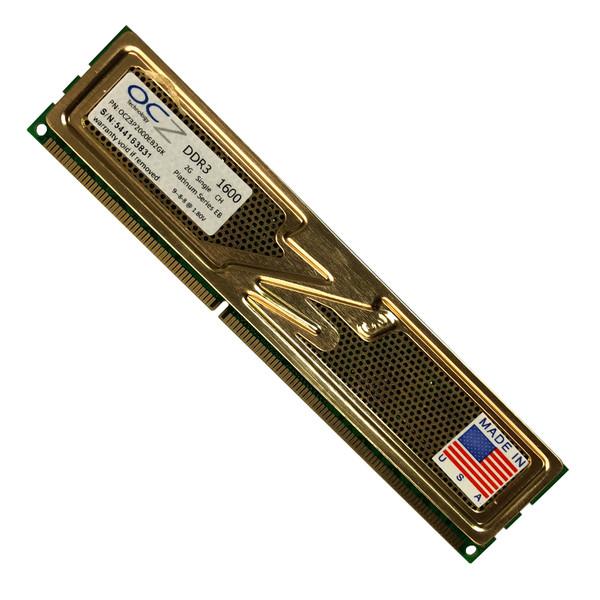 رم دسکتاپ DDR3 تک کاناله ۱۶۰۰ مگاهرتز CL۱۱ او سی زد مدل platinum ظرفیت 2 گیگابایت