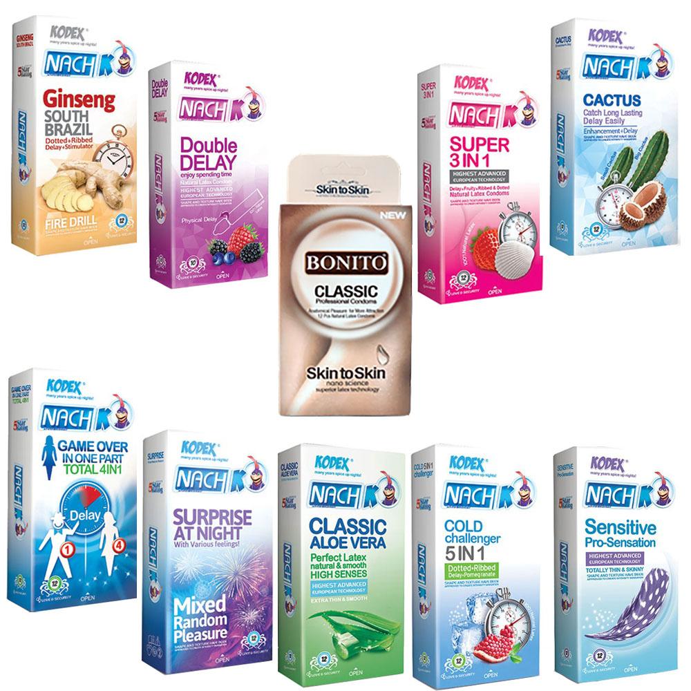 پک کاندوم کدکس مدل 03 مجموعه 9 عددی به همراه کاندوم بونیتو بسته 10عددی
