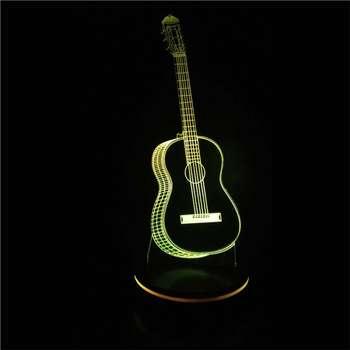 چراغ خواب سه بعدی پارسافن لیزر مدل گیتار
