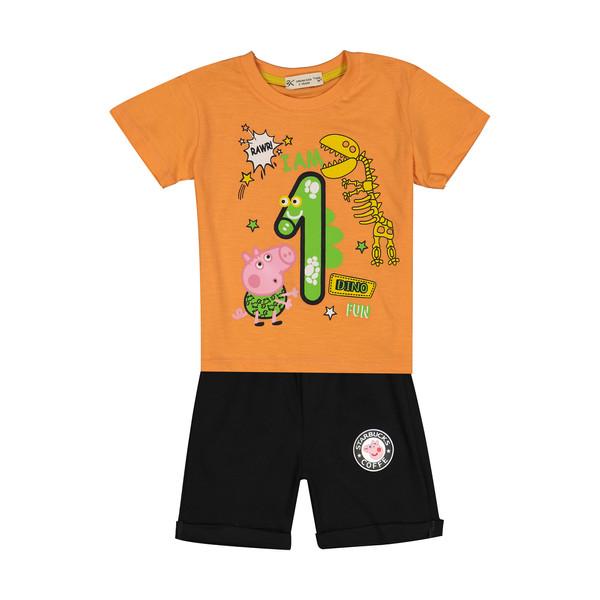 ست تی شرت و شلوارک پسرانه بی کی مدل 2211216-2399