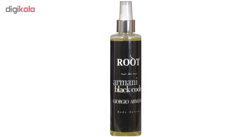 اسپری خوش بو کننده و ضدتعریق مردانه روت مدل armani black code حجم 250 میلی لیتر