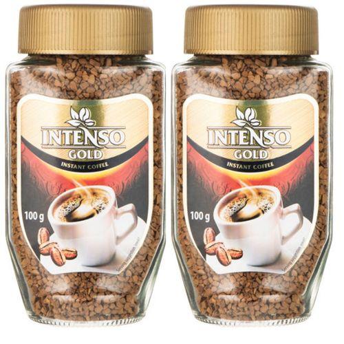 پودر قهوه فوری اینتنسو مدل گلد مجموعه 2عددی