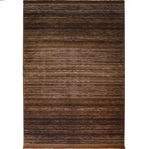 فرش ماشینی فرش رادین طرح گبه 13 رنگ زمینه قهوه ای
