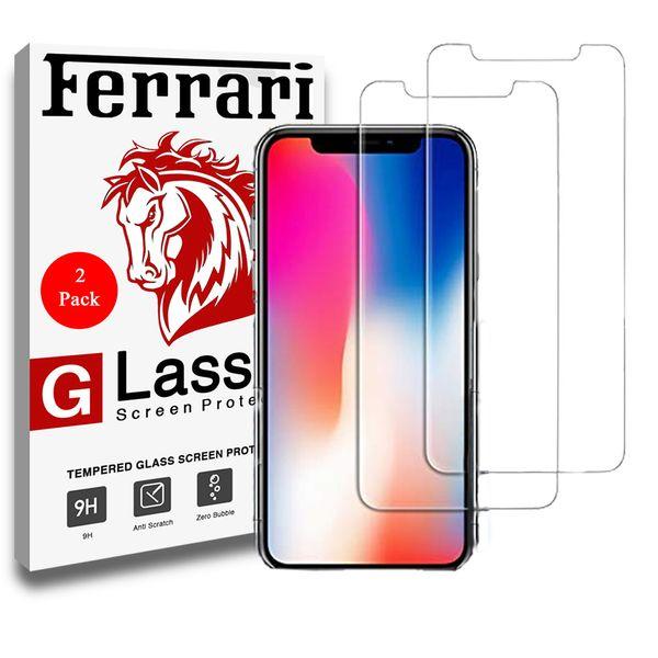 محافظ صفحه نمایش گلس فراری مدل Ultra Clear Crystal مناسب برای گوشی موبایل اپل Iphone X مجموعه دو عددی