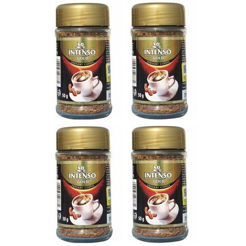پودر قهوه فوری اینتنسو مدل گلد مجموعه 4 عددی