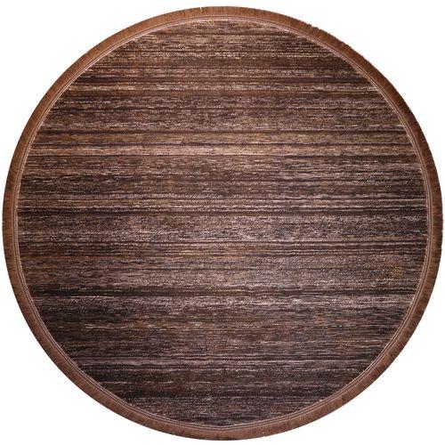 فرش ماشینی فرش رادین طرح گرد گبه 14 رنگ زمینه قهوه ای