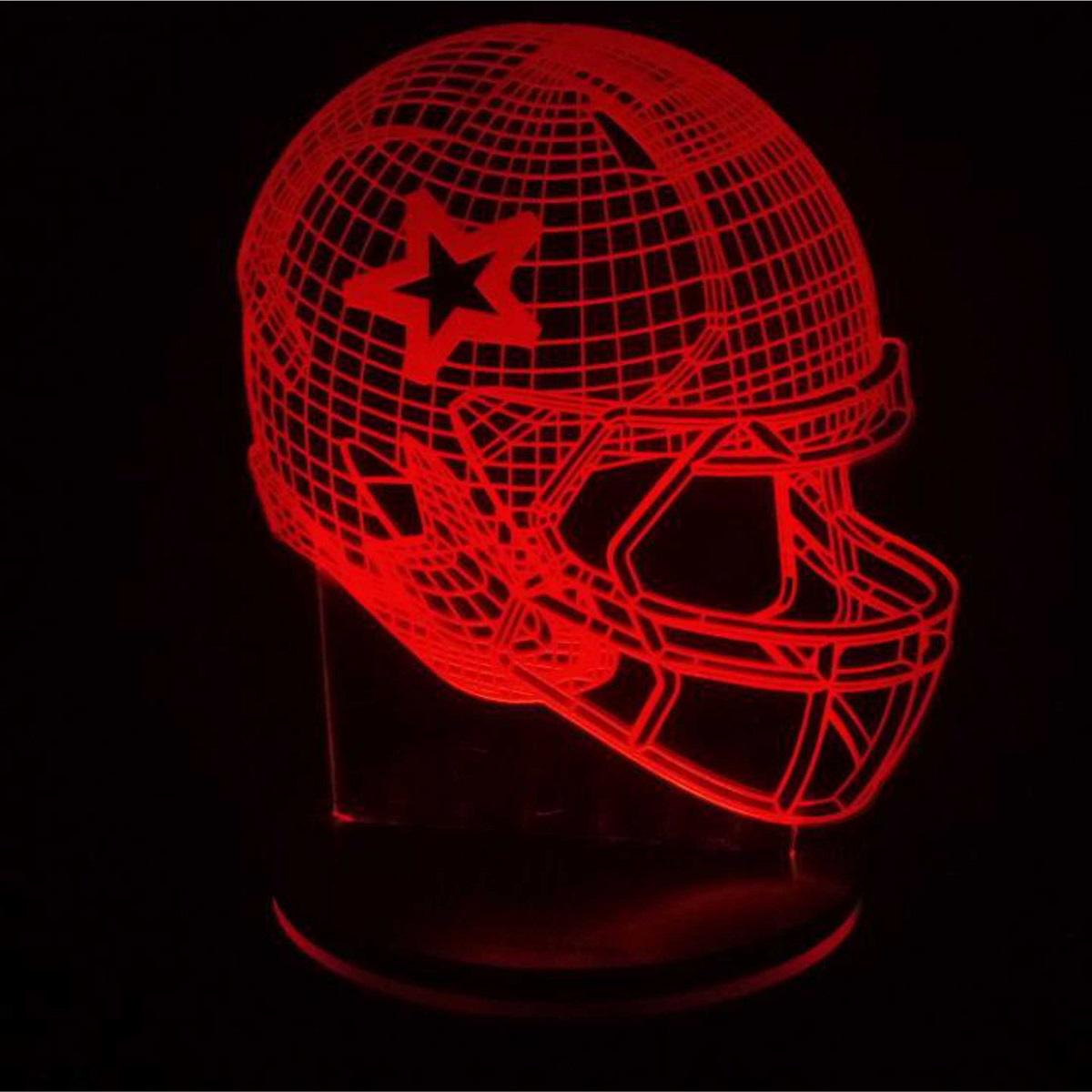 چراغ خواب سه بعدی پارسافن لیزر طرح کلاه راگبی 16 رنگ ریموت دار