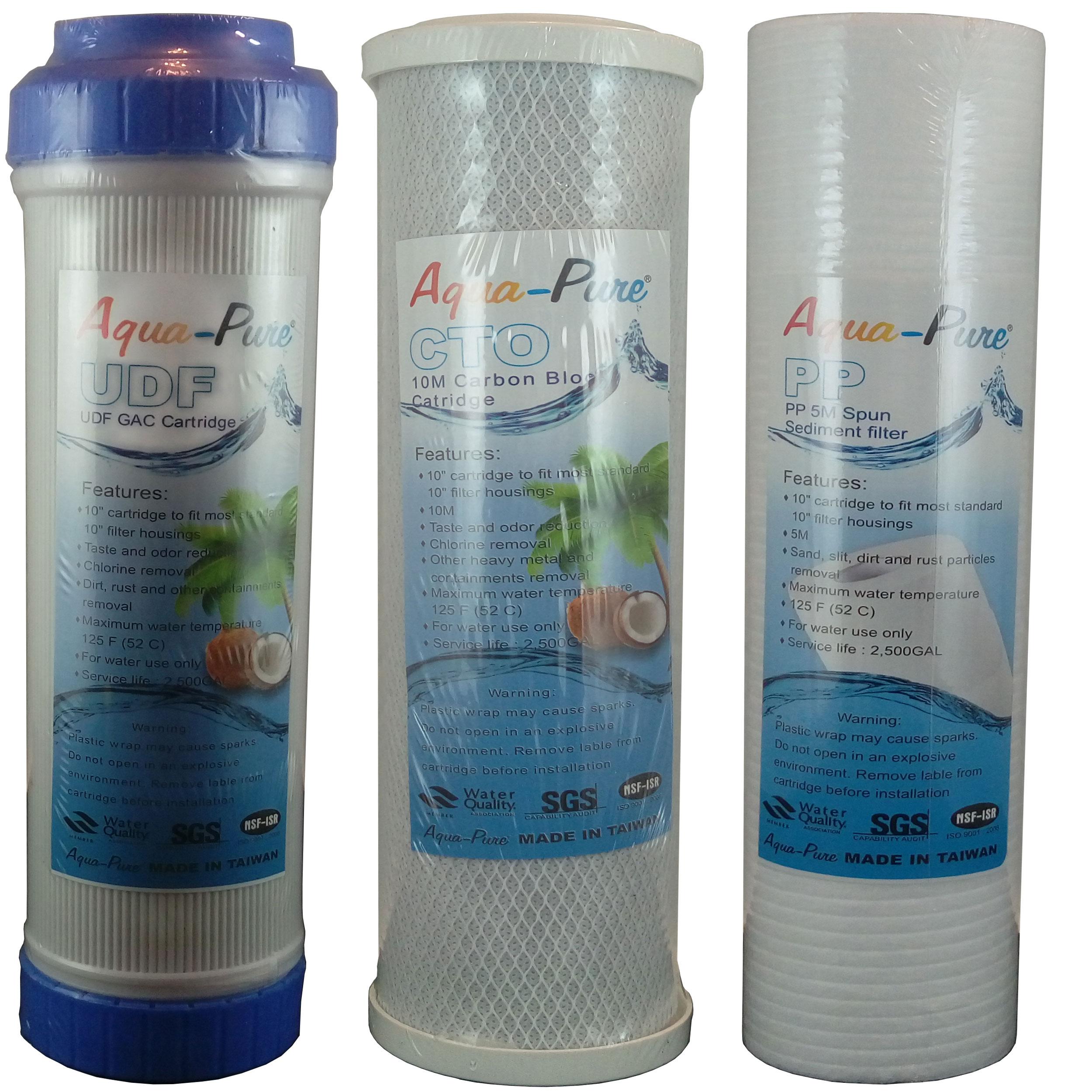 فیلتر تصفیه آب خانگی آکواپور مدل دینا بسته 3 عددی