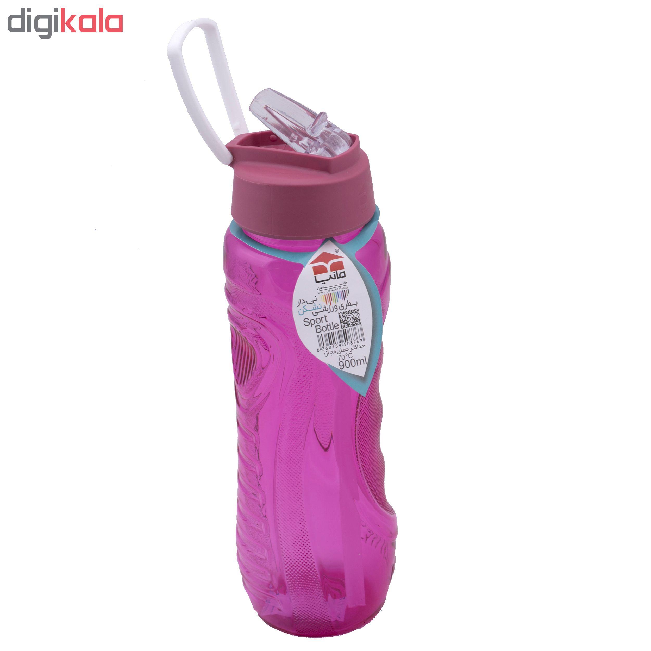 بطری ورزشی نشکن مانیا نی دار بزرگ مدل Mp103111 گنجایش  0.9 لیتر