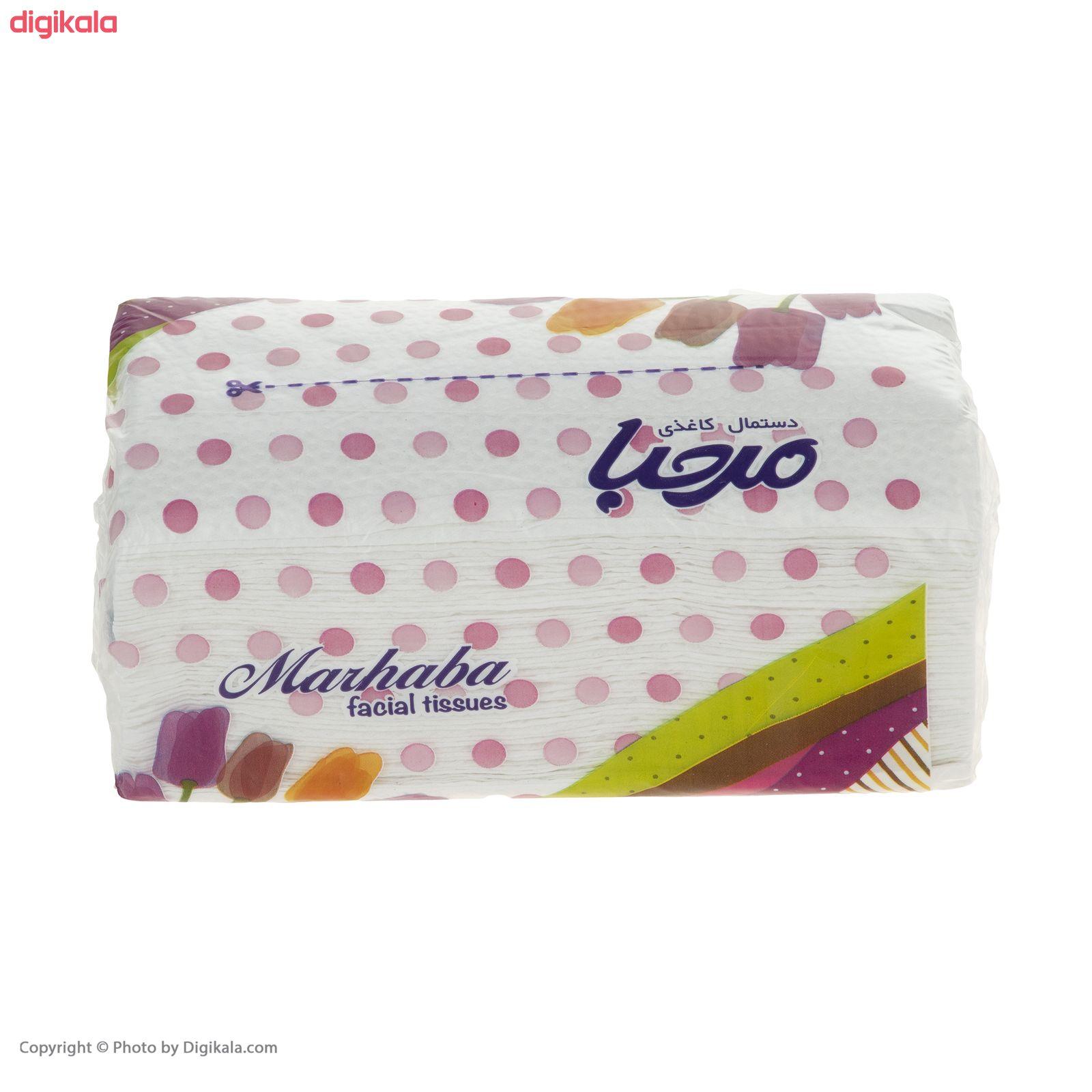 دستمال کاغذی 100 برگ مرحبا مدل Flower بسته 10 عددی main 1 8