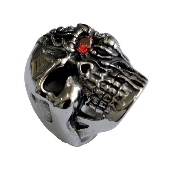 انگشتر مردانه گومایا طرح ترمیناتور جمجمه دیفانکت مدل j-10451