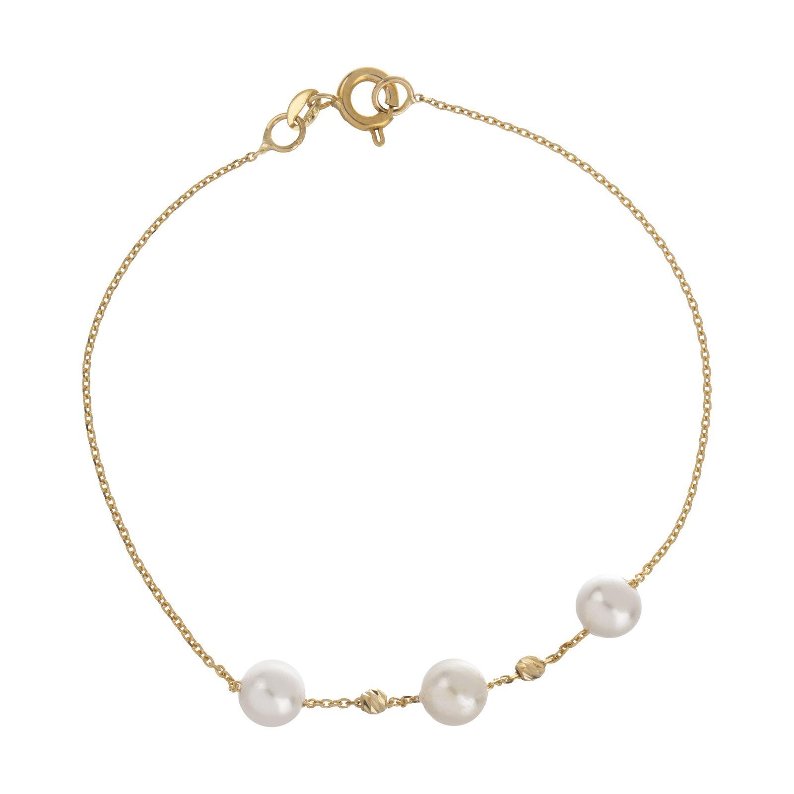 دستبند طلا 18 عیار زنانه مایا ماهک مدل ZMB1051 -  - 2
