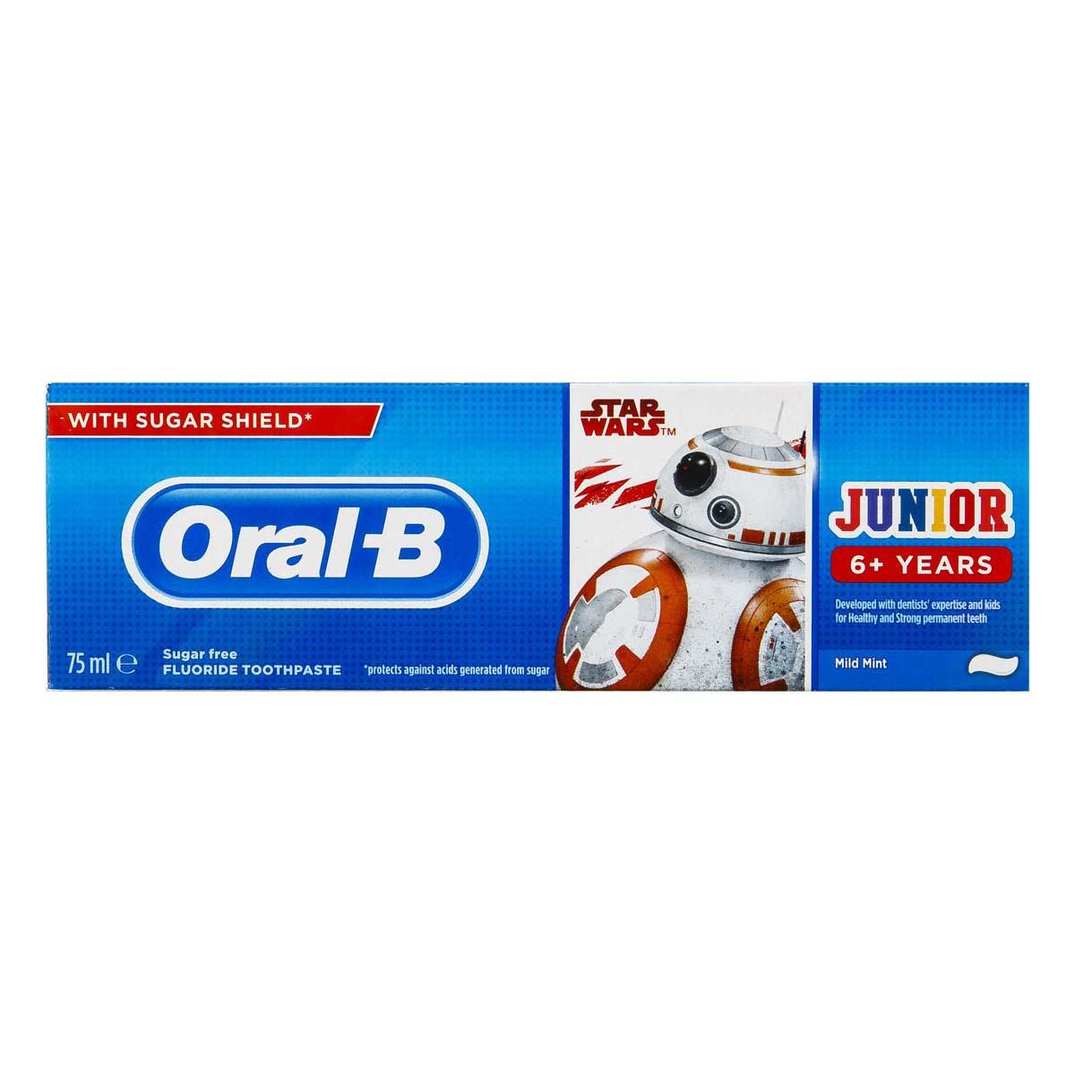 خمیر دندان اورال-بی سری Junior +6 years مدل Star wars حجم 75 میلی لیتر