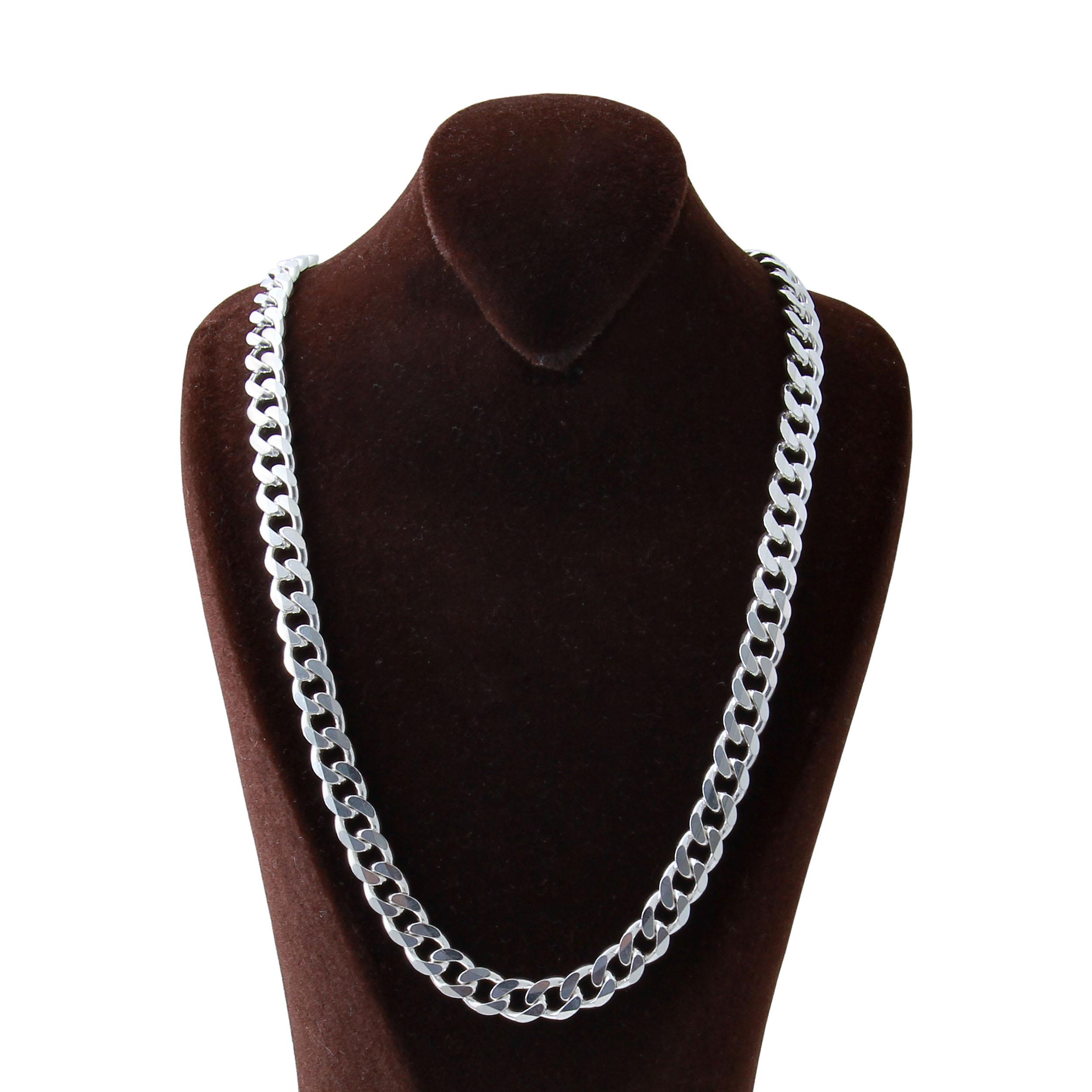 زنجیر نقره مردانه بازرگانی میلادی  کد  ZR_016