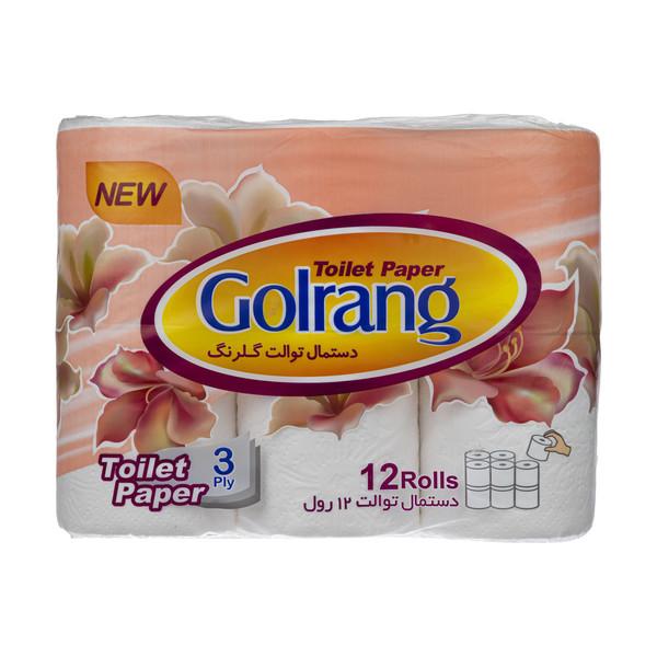 دستمال توالت گلرنگ کد 01 بسته 12 عددی