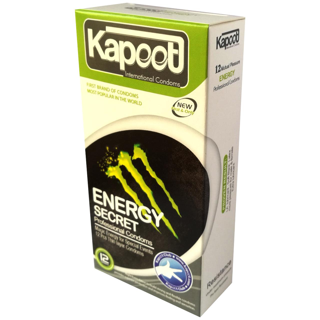 کاندوم کاپوت مدل energy Secret بسته 12 عددی