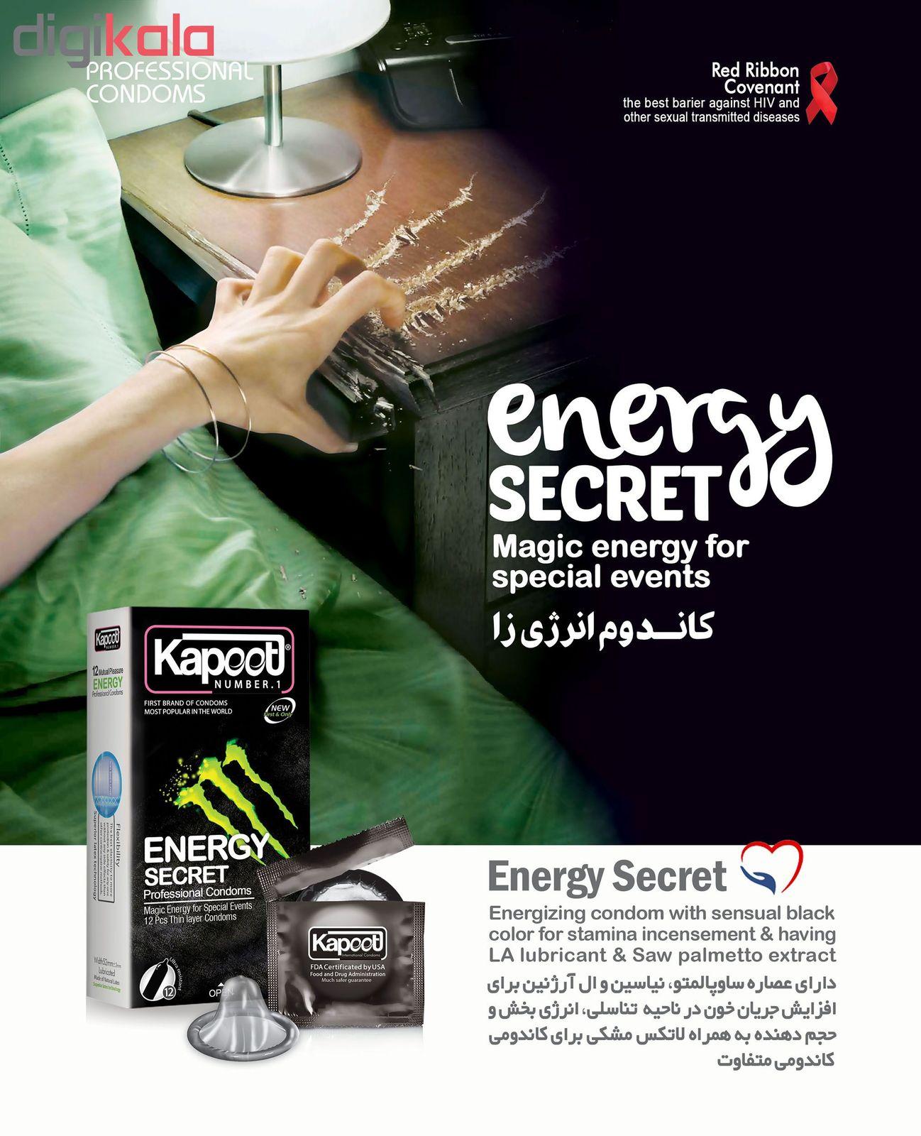 کاندوم کاپوت مدل energy Secret بسته 12 عددی main 1 2