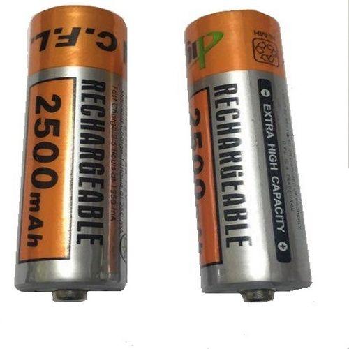 باتری قلمی قابل شارژ سی اف ال مدل 2500mAh AA بسته 2 عددی