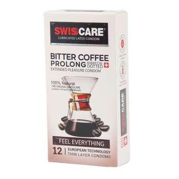 کاندوم سوئیسکر مدل Coffee Prolong بسته 12 عددی
