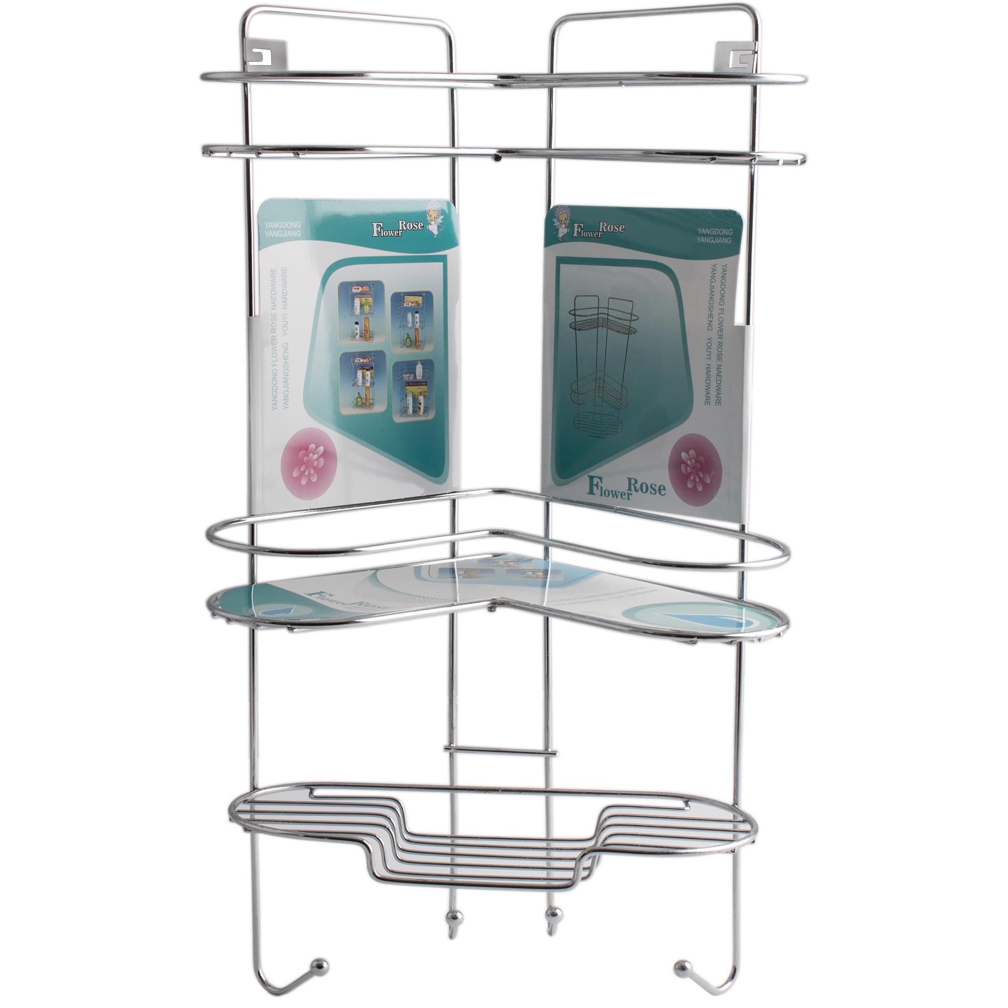 قفسه حمام گل رز مدل FLR-VATE808 طرح قلب سه طبقه