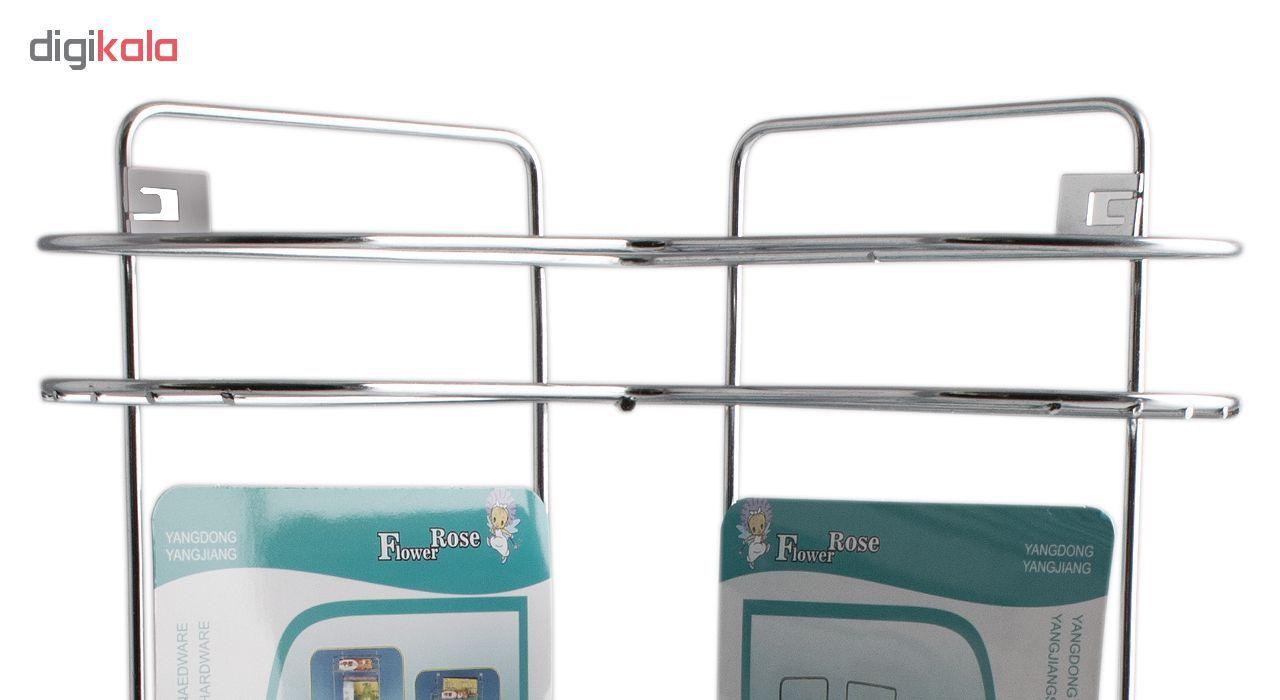 قفسه حمام گل رز مدل FLR-VATE808 طرح قلب سه طبقه main 1 4