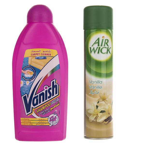 شامپو فرش ونیش مدل 3In1 به همراه اسپری خوشبوکننده ایرویک مدل Vanilla