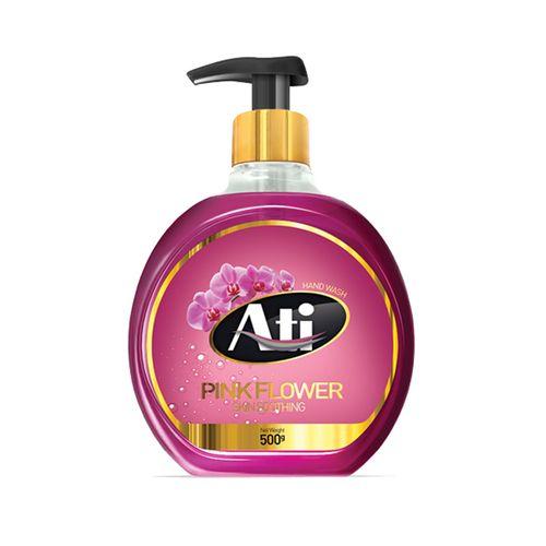 مایع دستشویی آتی مدل طلایی با رایحه گل صورتی وزن 500 گرم