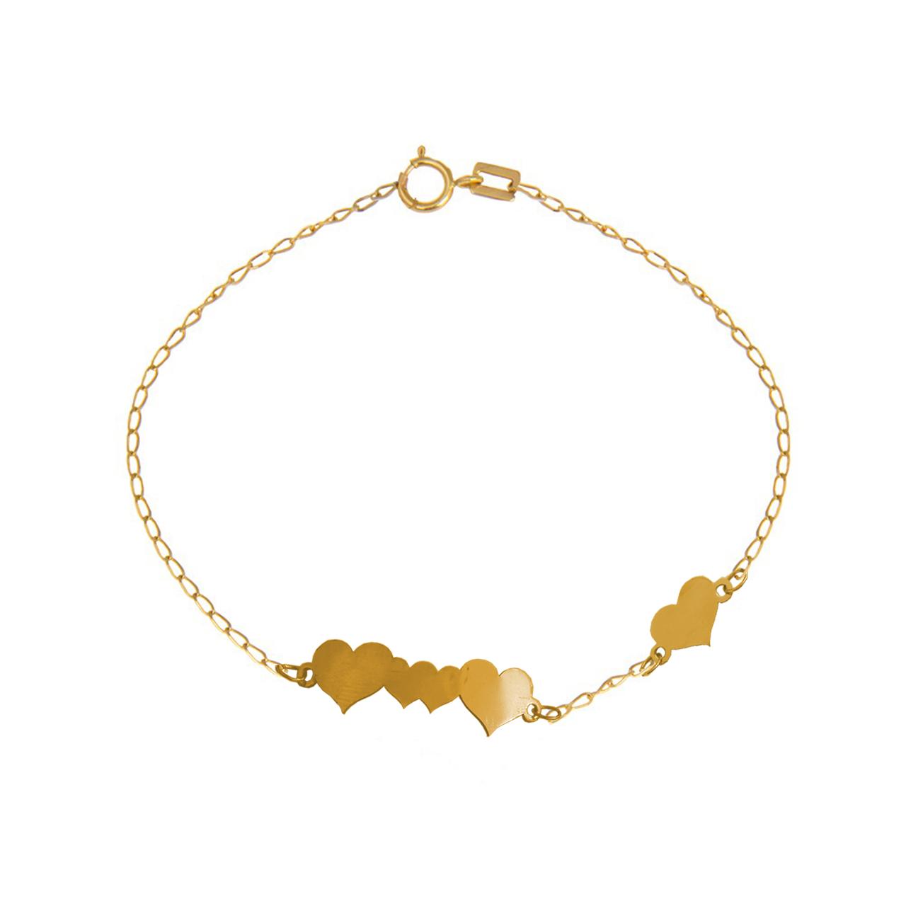 قیمت دستبند طلا 18 عیار نازنین مدل T888