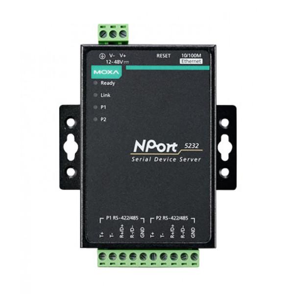 مبدل سریال به اترنت موگزا مدل NPort 5232 w/adapter