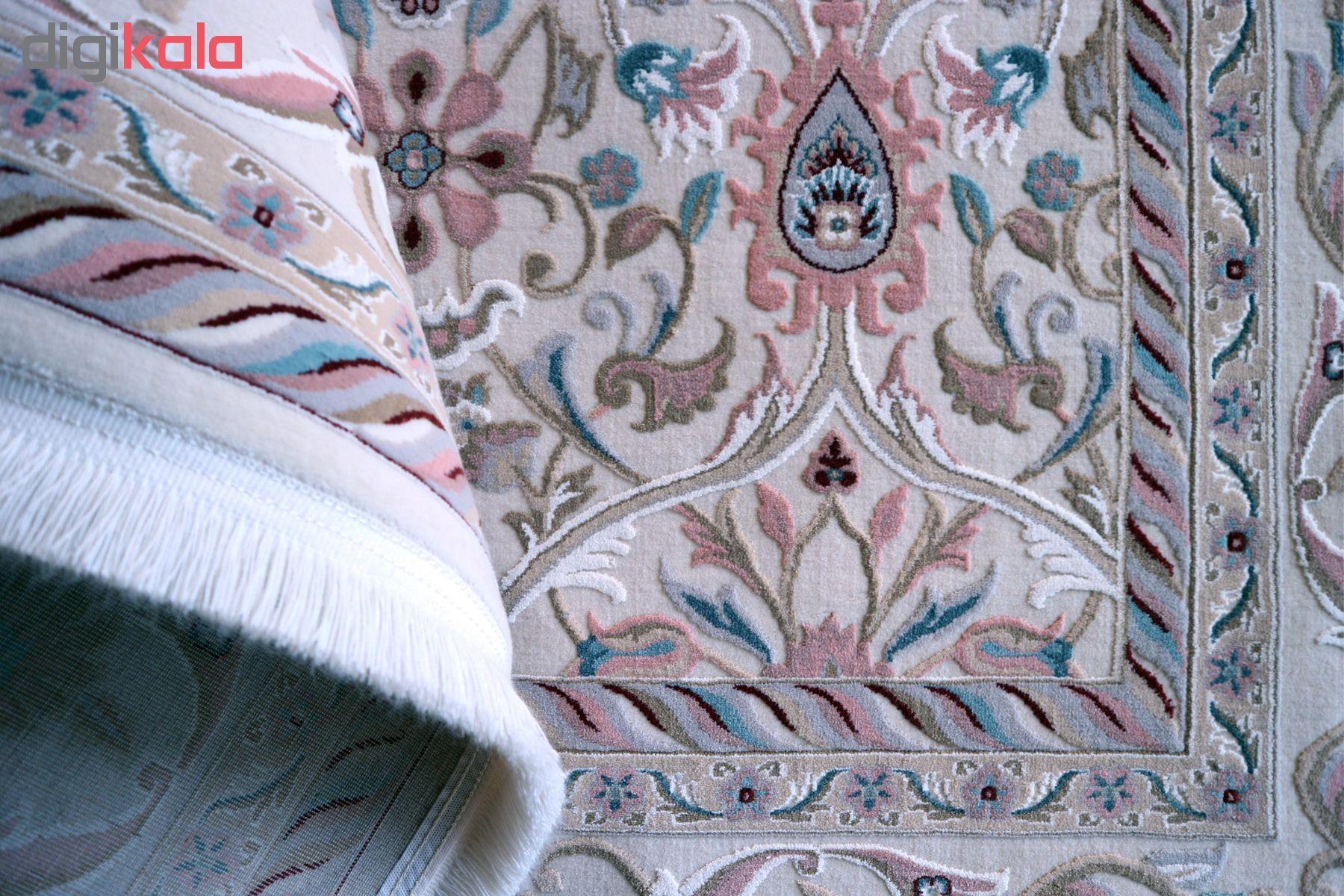 فرش ماشینی فرش رادین طرح آنتیک 2 آرامش صدفی