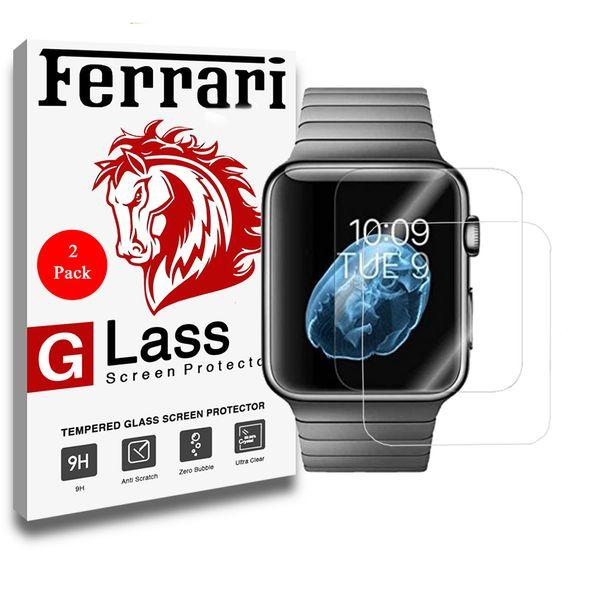 محافظ صفحه نمایش گلس فراری مدل Ultra Clear Crystal مناسب برای اپل واچ 42 میلی متری مجموعه دو عددی