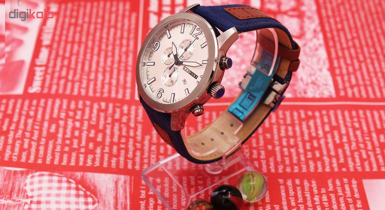 خرید ساعت مچی عقربه ای مردانه لدفورت مدل کرنوگراف کد MK-0019