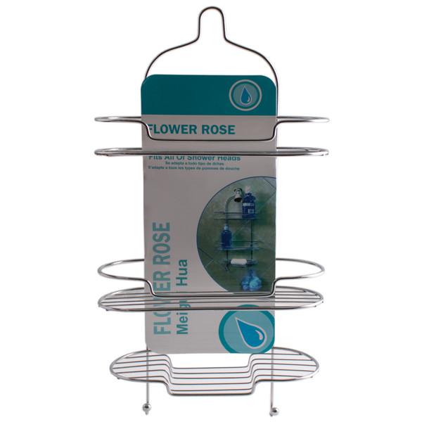 قفسه حمام گل رز مدل FLR-VATE606  سه طبقه