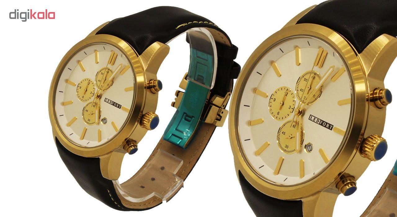 خرید ساعت مچی عقربه ای مردانه لدفورت کد MK-0038