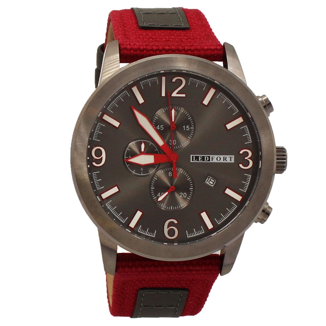 ساعت مچی عقربه ای مردانه لدفورت مدل کرنوگراف کد MK-0051