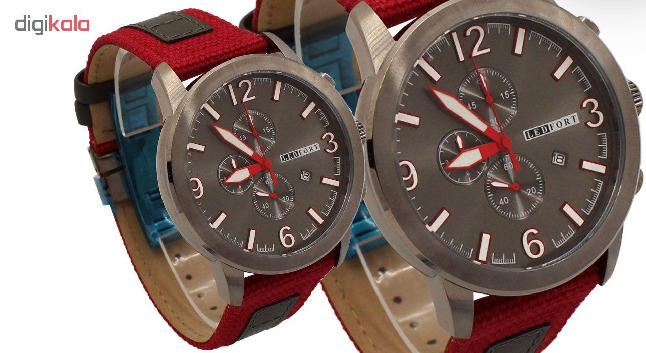 خرید ساعت مچی عقربه ای مردانه لدفورت مدل کرنوگراف کد MK-0051