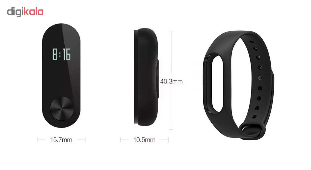 مچ بند هوشمند شیائومی مدل Mi Band 2 به همراه محافظ صفحه بوف