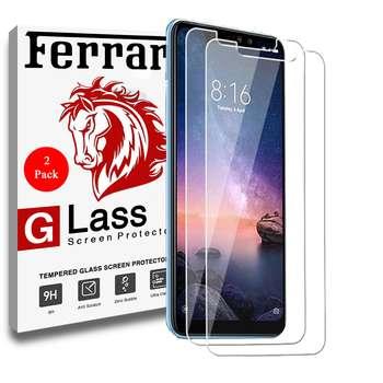 محافظ صفحه نمایش فراری مدل Ultra Clear Crystal مناسب برای گوشی موبایل شیائومی Redmi 6 Pro / Mi A2 Lite مجموعه دو عددی |