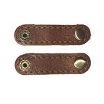 نگهدارنده کابل هندزفری و شارژ چرم طبیعی – دست دوز مدل EA بسته 2 عددی رنگ عسلی B&S Leather thumb