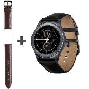 ساعت هوشمند سامسونگ مدل Gear S2 Classic SM-R732 Black به همراه بند چرمی اضافه