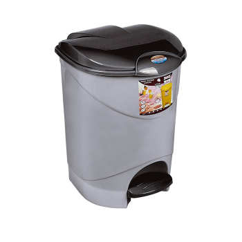 سطل زباله پدالی ناصر پلاستیک طرح مرجان کد 2440