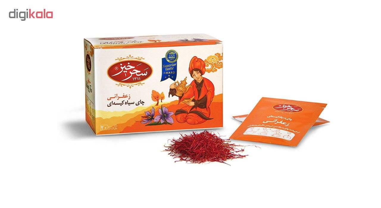 چای سیاه کیسه ای زعفرانی سحرخیز بسته 20 عددی main 1 1