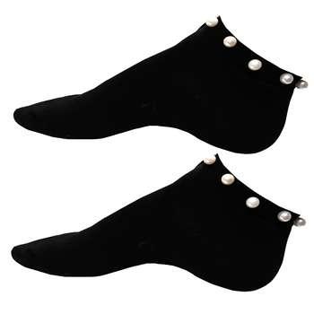 جوراب زنانه طرح مرواریدی