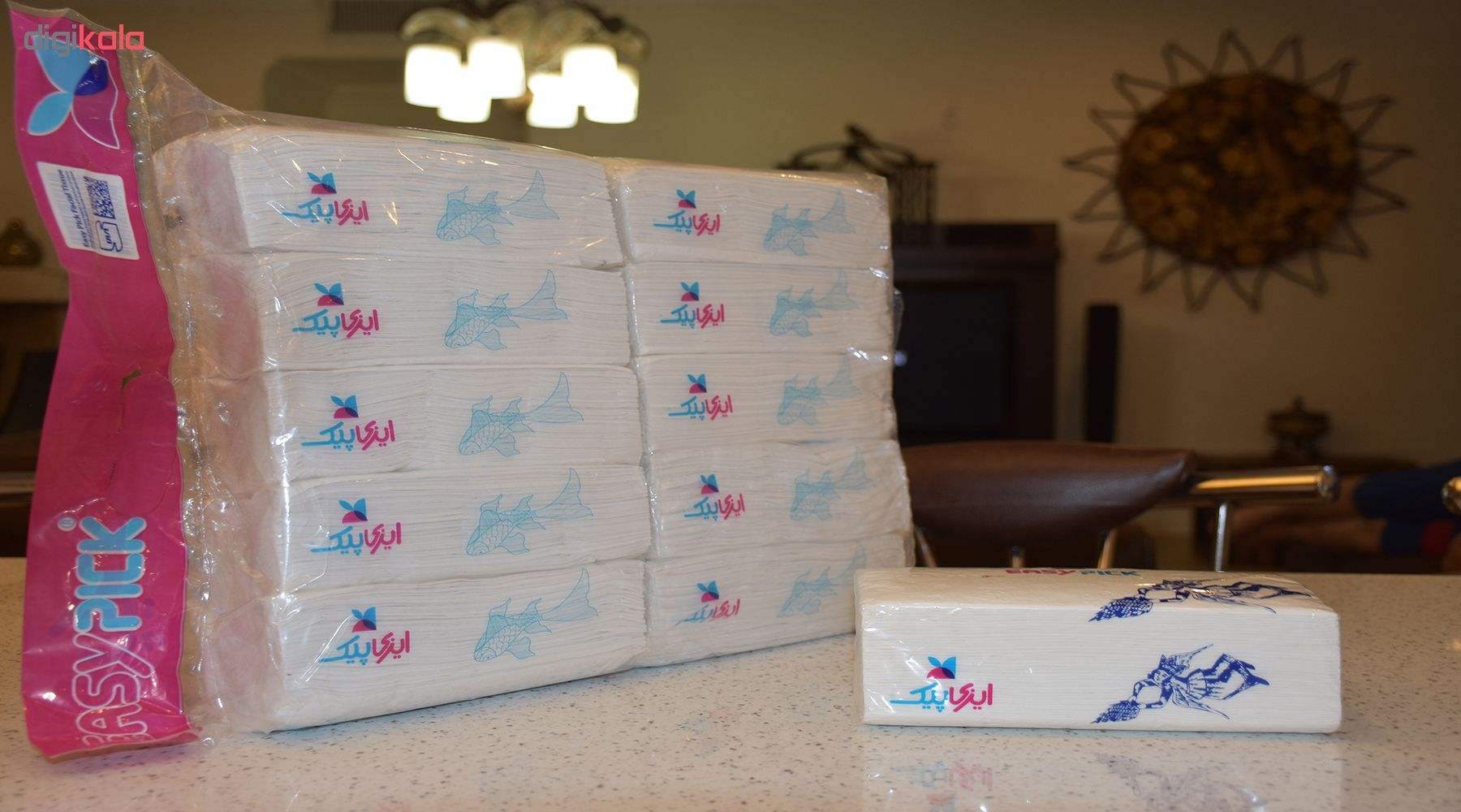 دستمال کاغذی 200 برگ ایزی پیک بسته 10 عددی main 1 6